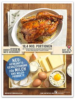 Huhn und Milch